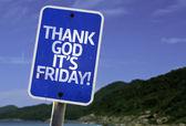 Thank God It's Friday  sign — Stock Photo