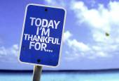 Today I'm Thankful For.. sign — Stock Photo