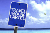 Travel Hacking Cartel sign — Stock Photo