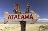 Atacama wooden sign — Stock Photo