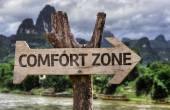 Comfort Zone wooden sign — Foto de Stock