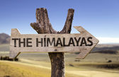 The Himalayas wooden sign — Stock Photo