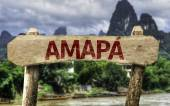 Amapa (Brazilian State) sign — Stock Photo