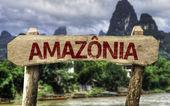 アマゾン (ポルトガル語で) 記号 — ストック写真