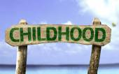 Childhood sign with a beach — Stock Photo