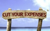 Cut Your Expenses sign — Stock Photo
