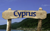 Cyprus wooden sign — Stock Photo