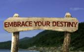 Embrace your Destiny wooden sign — Stock Photo