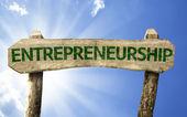 Entrepreneurship wooden sign — Stock Photo