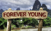 Forever Young sign — Stock Photo