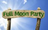 Full Moon Party wooden sign — Foto de Stock