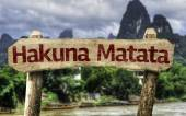 Hakuna Matata sign — Stock Photo