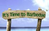 It's Time to Barbecue wooden sign — Stock Photo