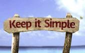 Keep It Simple sign — Stockfoto
