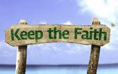 Keep the Faith wooden sign — Foto de Stock