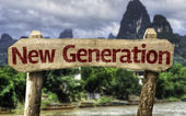 New Generation sign — Stock Photo