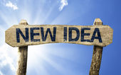 New Idea sign — Stock Photo