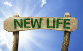 New Life green sign — Foto Stock