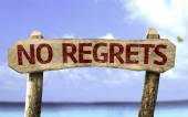 No Regrets sign — Stock Photo