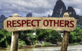 Respect Others wooden sign — Stock Photo