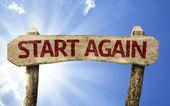 Start Again sign — Stock Photo