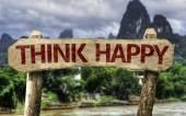 Think Happy sign — Stock Photo