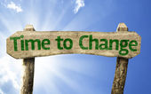 Time to Change wooden sign — Stock Photo