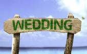 Wedding wooden sign — Foto de Stock