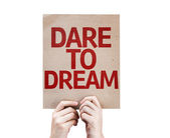 Dare To Dream card — Stock Photo