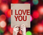 I Love You card — Stock Photo