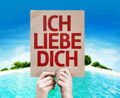 I Love You card (In German) — Stock Photo