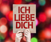 I Love You (In German) card — Stock Photo