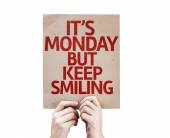 It's Monday But Keep Smiling card — Stock Photo