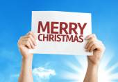 Merry Christmas card with a beautiful day — Stock Photo