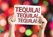 Tequila! Tequila! Tequila! card — Stock Photo