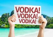 Vodka! Vodka! Vodka! card — Stock Photo