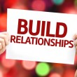 Build Relationships card — Stock Photo #63139521