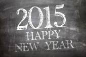 2015 Happy New Year on blackboard — Stock Photo