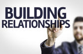Text: Building Relationships — Stock Photo