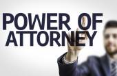 Board with text: Power Of Attorney — Stock Photo