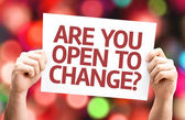 Are You Open to Change? card — Fotografia Stock