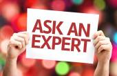 Ask an Expert card — Stockfoto