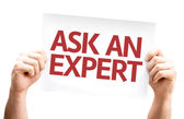 Ask an Expert card — Stock Photo