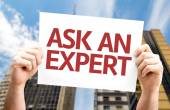 Ask an Expert card — Foto de Stock