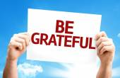 Be Grateful card — Foto Stock