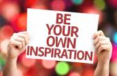 Be Your Own Inspiration card w — Stock Photo