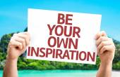 Be Your Own Inspiration card — Stock Photo