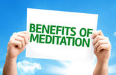 Benefits of Meditation card — ストック写真