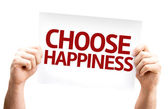 Choose Happiness card — ストック写真