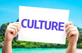 Culture card In hands — Stock Photo